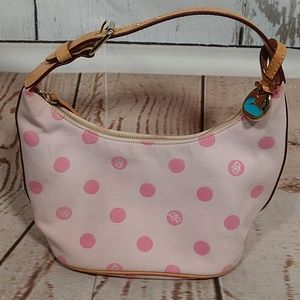 Dooney & Bourke Monogram Small Hobo Bag Pink
